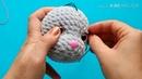 Вышивание век и ресничек игрушке. Приложение к МК Зая