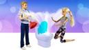 Барби и Кен переехали в новый дом - Куклы расставляют мебель - Видео для девочек про дом Барби