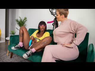 Ryan Keely, Daizy Cooper - Stepmom Strap On (Lesbian, MILF, Big TIts, Brunette, Stepmom, Ebony, Masturbation, Squirt)