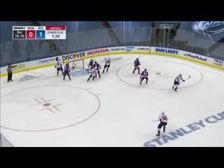 Evgeny Kuznetsov Snipes Puck Past A Screened Semyon Varlamov
