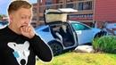 Автопилот Теслы спасает жизнь Как работает Автопилот Тест ДТП на Tesla Model X P100D