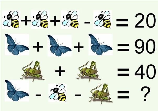 Математические загадки на логику в картинках с ответами