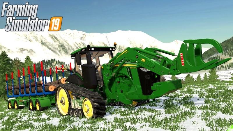JOHN DEERE 8RT US SERIES MOD Farming Simulator 19