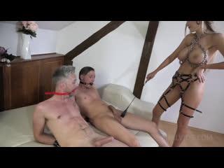 BDSM Dominatrix Slut Florane Russell and her anal slave Freya Dee HARDCORE fucking balls deep and anal bondage NF014