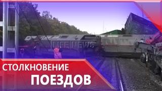Два товарных поезда столкнулись под Екатеринбургом