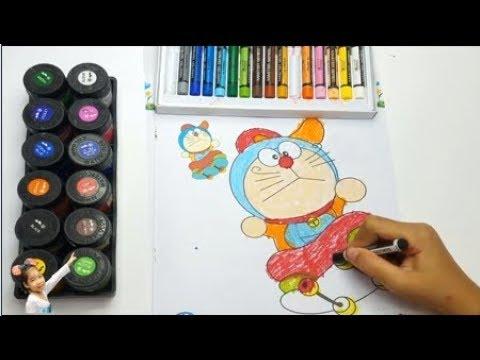 Bé Tập Tô Màu Chú Mèo Doremon Dễ Thương Baby Episode Coloring Cute Doremon Cat