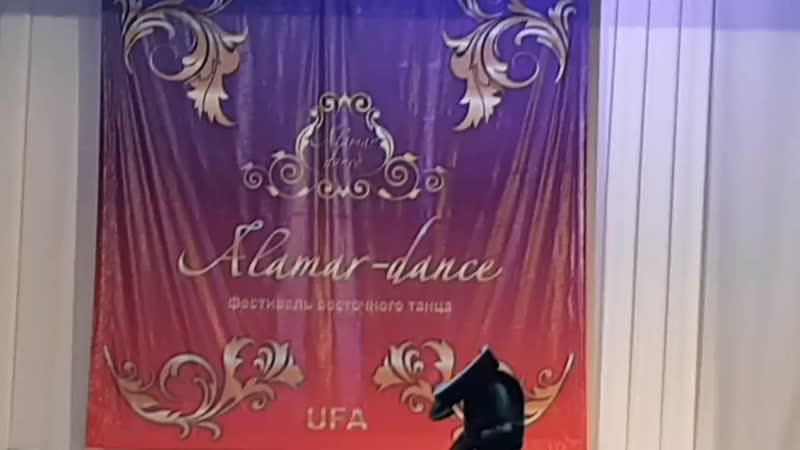 Смольникова Алиса дебют соло на фестивале Аламар данс