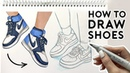 HOW TO DRAW SHOES- Sneakers | Sketching Coloring Tutorial