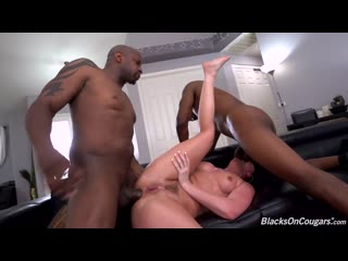 Jennifer White - Two Big Black Cock - Anal Sex DP Milf Deepthroat ATM Big Ass Natural Tits Dick BBC