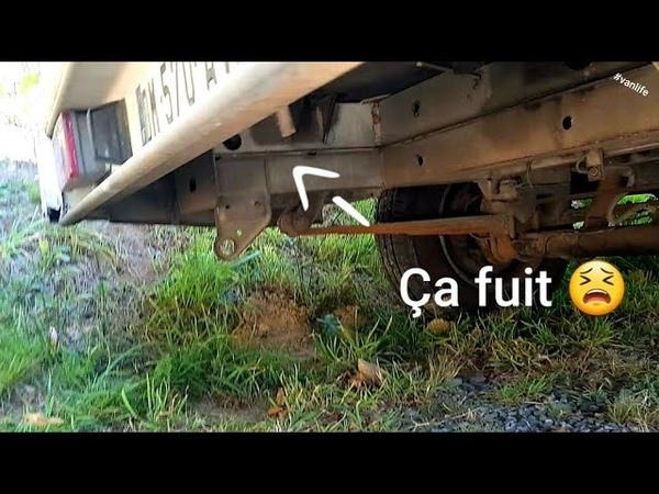 😫 Fuite dans le circuit d'eau du camping car vanlife