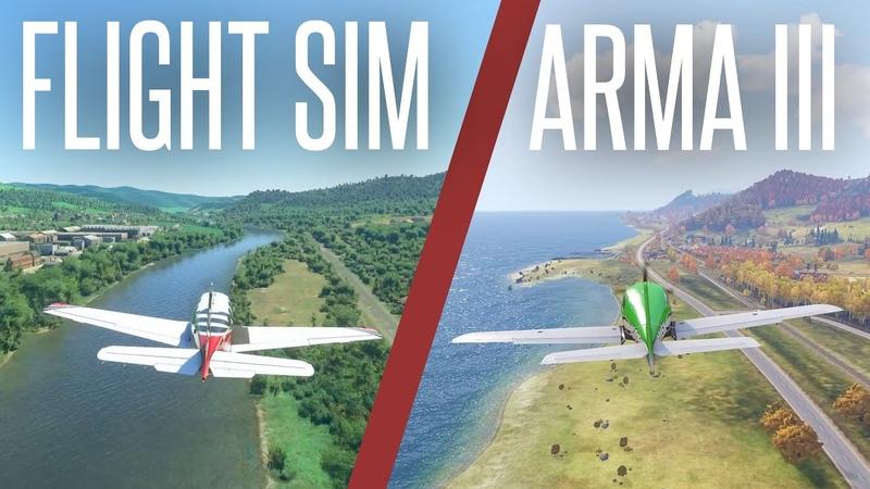 Exploring Arma 2's Chernarus and Arma 3's Altis' REAL WORLD AREAS in Microsoft Flight Sim 2020