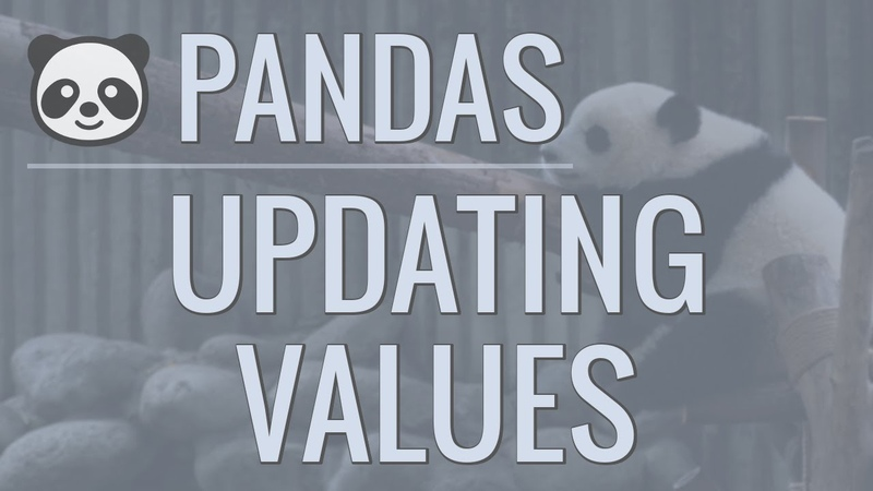 Python Pandas Tutorial Part 5 Updating Rows and Columns Modifying Data Within Our DataFrames