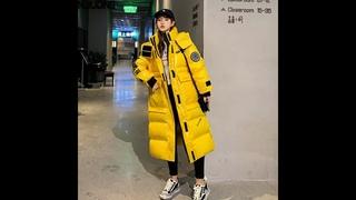 Женское хлопковое пальто nijiuding, длинное облегающее пальто до колена в корейском стиле, зима 2020