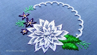 Cutesy White Embroidery for Sofa cover,pillow cover,table cloth,wall mate,Pattern-104, #Miss_A