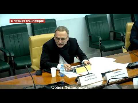 Андрей Ильницкий Выступление на Совете Федерации не политикана а специалиста государственного уровня