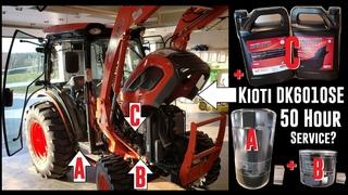 Kioti - DK6010SE HST - 50 Hour Service Overview - Engine Oil & Filter + Hydraulic Oil Filter