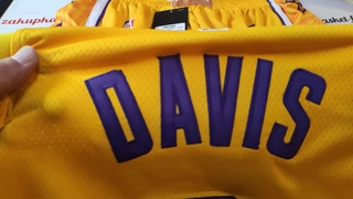 Баскетбольная форма Nike NBA Los Angeles Lakers №3 Anthony Davis city edition желтая