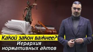 Какой акт выше по силе закона в РФ? / Самый главный закон в России