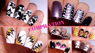 Easy Nail Ideas - Drag Marble Designs Compilation