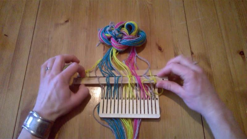 Band weaving tutorial belt weaving backstrap weaving